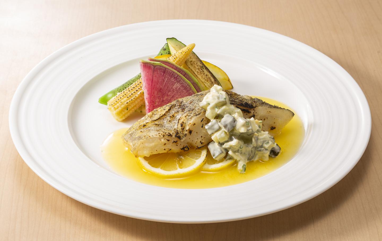 真鱈のオーブン焼きレモンソース<br />ライス・スープ・ドリンク付