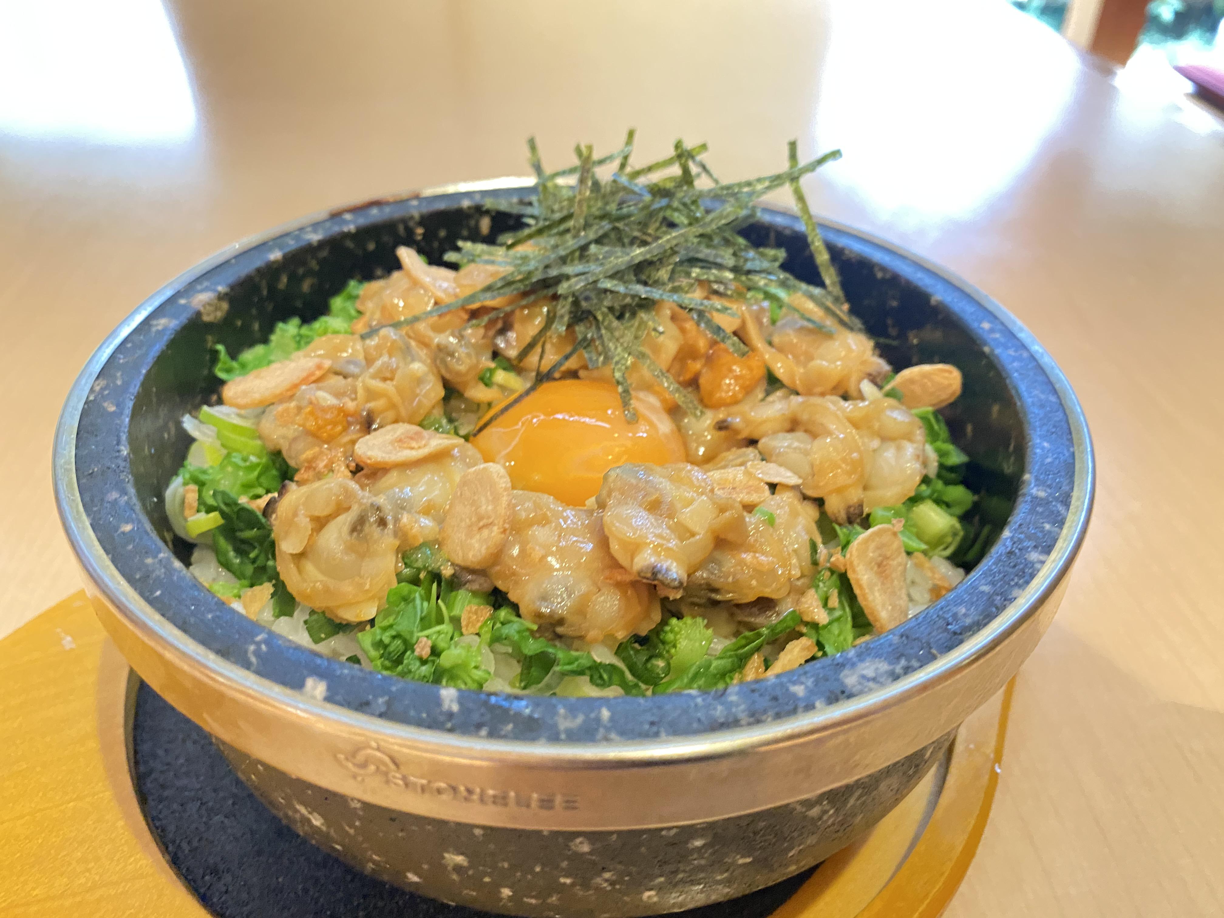 【NEW】あさりの石焼ガーリックバターライス<br />ミニサラダ・スープ・ドリンク付