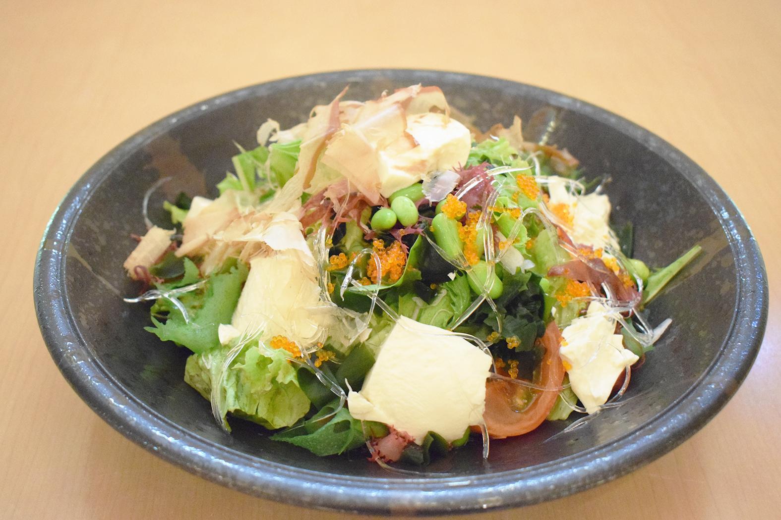 ツナと豆腐の海藻パワーサラダ